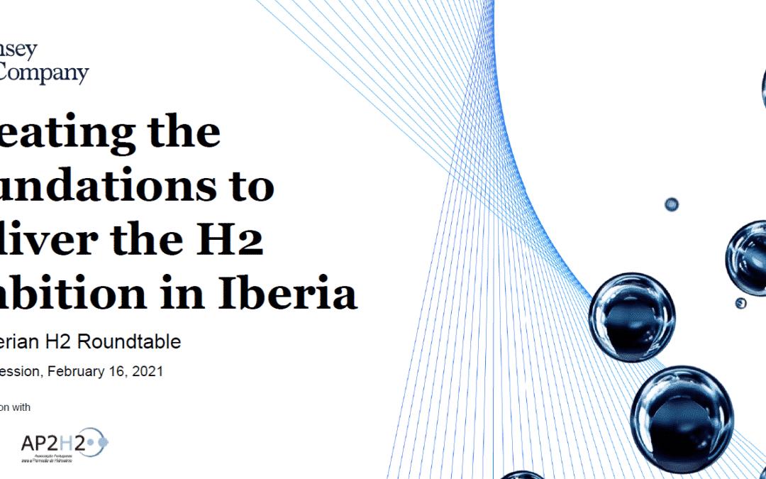 """La AeH2 participa en la """"2nd Iberian Hydrogen Roundtable"""" organizada por McKinsey & Company"""