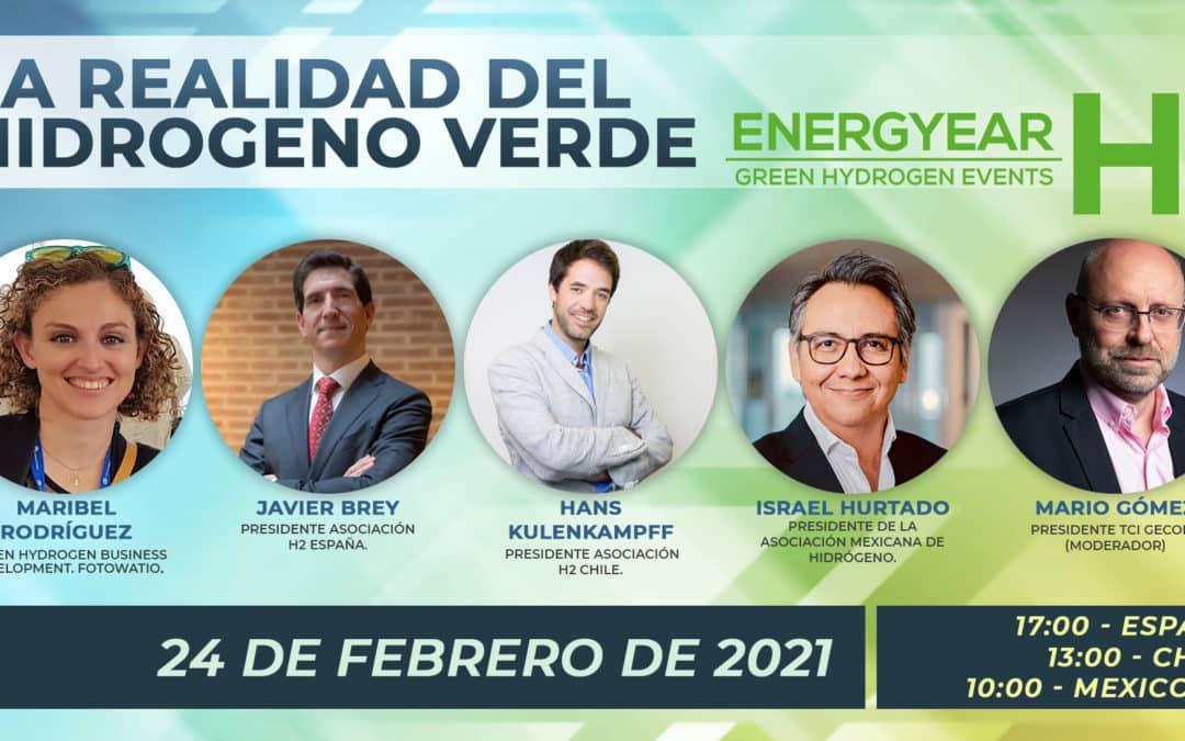 """La AeH2 participa en el evento """"La realidad del Hidrógeno Verde"""" organizado por Energyear"""