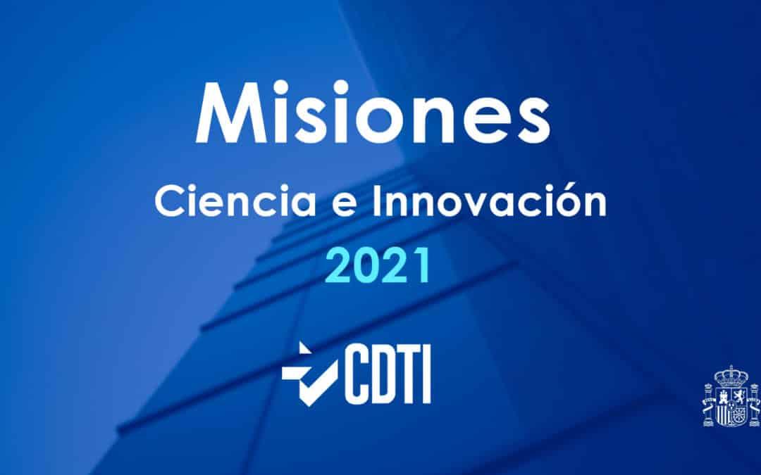Publicada la convocatoria 2021 del programa Misiones del CDTI